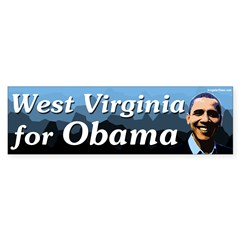 West Virginia for Obama bumper sticker