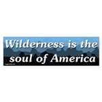 Wilderness is the soul of America bumper sticker