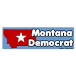 Montana Democrat Bumper Sticker
