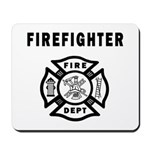 Bonfire Designs personalized firefighter gift mouse pads, firefighter t-shirts, gift mugs, firefighter clocks and more!  Click to see this design on more great gift ideas!