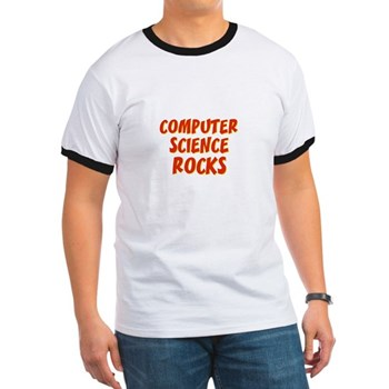 Computer Science~Rocks Men's Ringer Tee