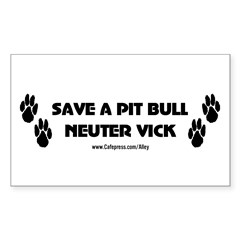 Neuter Vick Sticker (Rectangular)