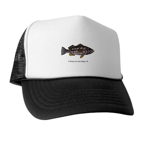 - Calico Bass in San Diego Hobbies Trucker Hat by CafePress