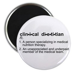 "Clinical Dietitian 2.25"" Magnet (100 pack)"