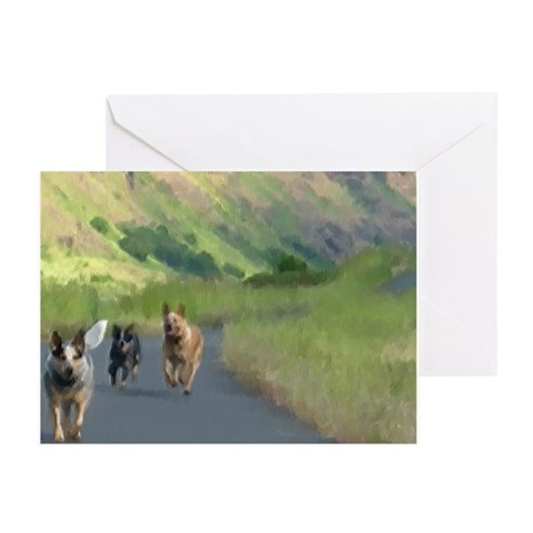 - Run by the River Pets Greeting Cards Pk of 20 by CafePress