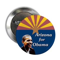 Arizona for Obama State Flag Button