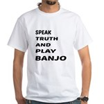 Speak Truth And Play Bell White T-Shirt