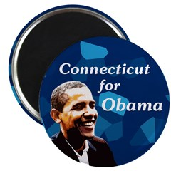Connecticut for Obama campaign magnet