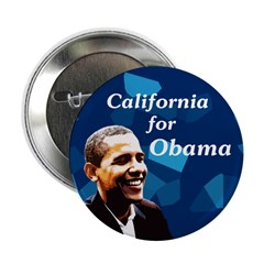 California for Obama 2008 button