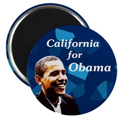 California for Obama 2008 magnet
