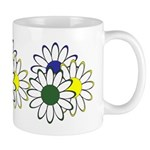 Flowers daisy, pansy garden bunch of flowers on flower mousepads, gift mugs, clocks, personalized t shirts and more!