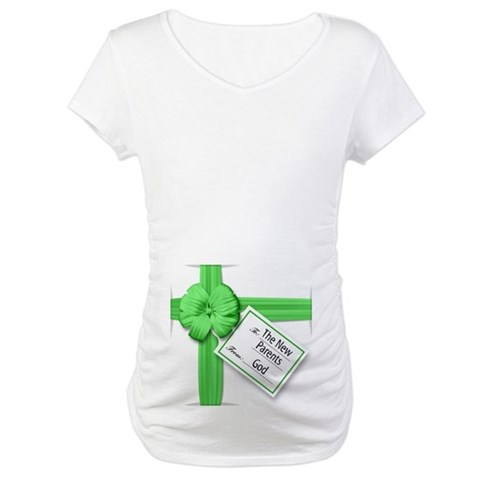 A Gift from God Green  Religion / beliefs Maternity T-Shirt by CafePress