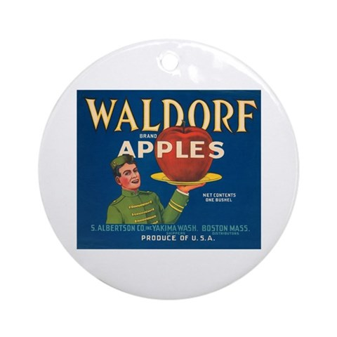 Waldorf Apples Ornament Round Vintage Round Ornament by CafePress