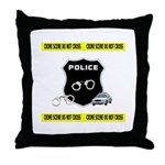 Police Crime Scene Throw Pillow