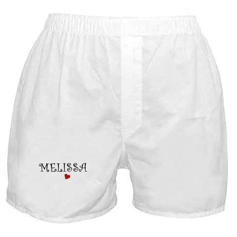 - Melissa Names Boxer Shorts by CafePress