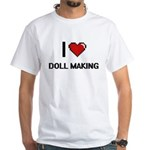 I Love Doll Making Digital Retro Design T-Shirt