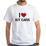 I Love Kit Cars Digital Retro Design T-Shirt