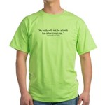 My Body -da Vinci Green T-Shirt