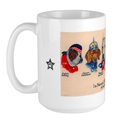 PIT BULL - WWI Propaganda Large Mug > PIT BULL > Obey the pure breed! The Dog Revolution | CafePress