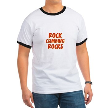 Rock Climbing Rocks Men's Ringer Tee
