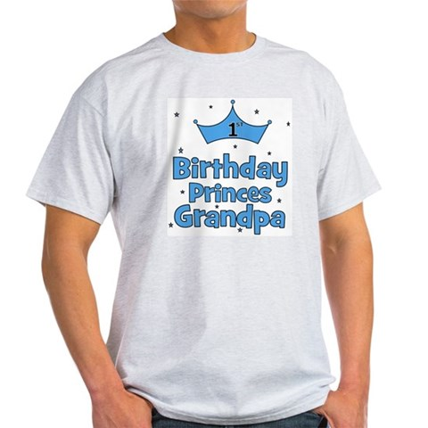 1st Birthday Princes Grandpa Baby Light T-Shirt by CafePress