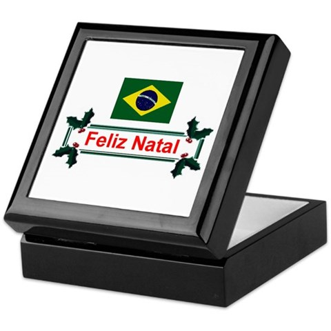 Brazil Feliz Natal Christmas Keepsake Box by CafePress