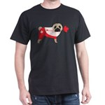 Canada Pug with Maple Leaf Heart T-Shirt