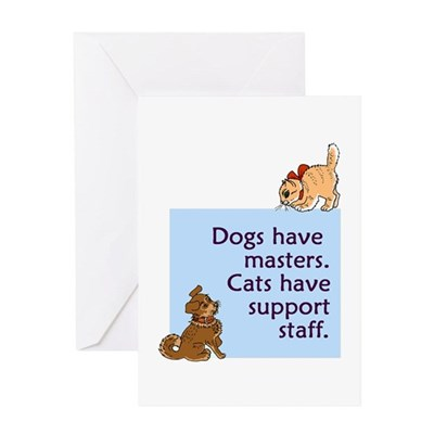 Cats vs. Dogs Greeting Card