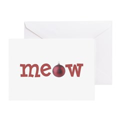 Meow Cat Christmas Cards