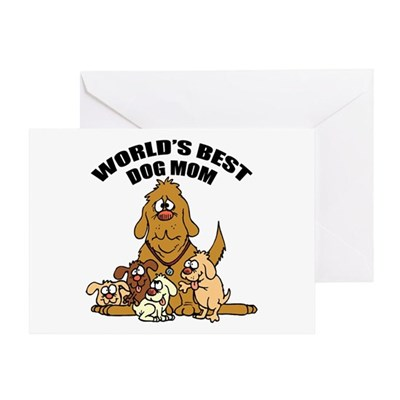 World's Best Dog Mom Greeting Card