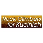Rock Climbers for Kucinich bumper sticker