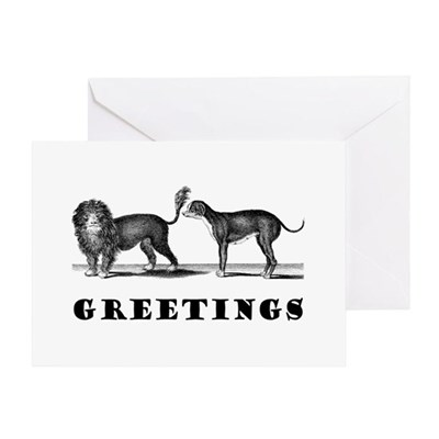 Dog Greetings Greeting Card