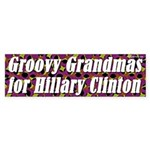 Groovy Grandmas for Hillary Clinton sticker