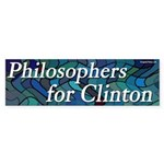 Philosophers for Clinton bumper sticker