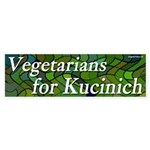Vegetarians for Kucinich bumper sticker