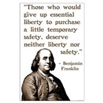 Ben Franklin Poster on Liberty and Safety