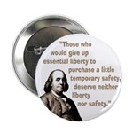 Ten Franklin on Liberty Buttons