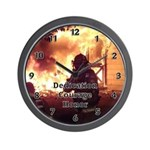 "Firefighter wall clock with ""Dedication, Courage and Honor"" is a great gift idea for firefighters."