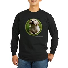 Yellow Lab Puppy Long Sleeve Dark T-Shirt