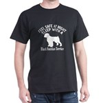 Sleep With Black Russian Terrier Dog T-Shirt