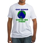 One World United We Stand Fitted T-Shirt