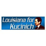 Louisiana for Kucinich bumper sticker
