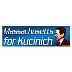 Massachusetts for Kucinich bumper sticker