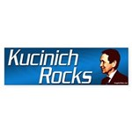 Kucinich Rocks bumper sticker