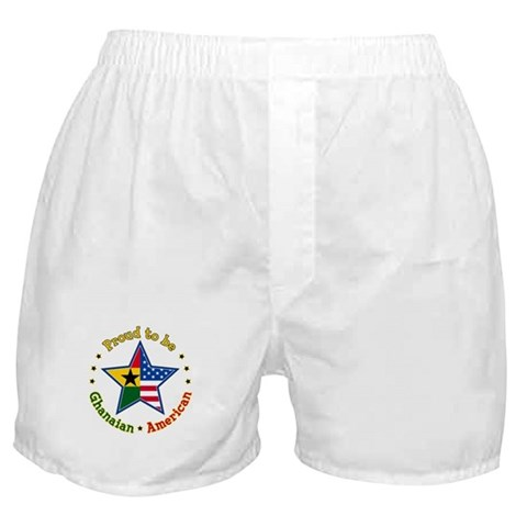 /Ghanaian American Family Boxer Shorts by CafePress