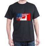 USA Canada Flag T-Shirt
