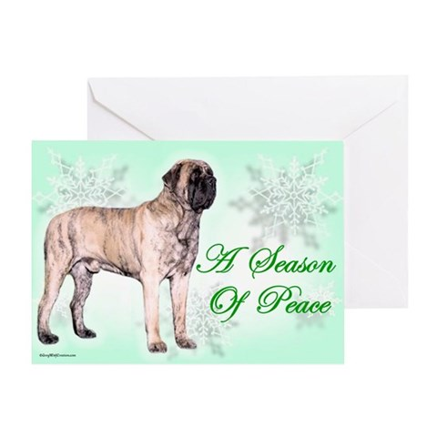 Season of Peace brindle Pets Greeting Card by CafePress