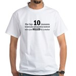 10 Reasons to Spay/Neuter White T-Shirt