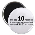 "10 Reasons to Spay/Neuter 2.25"" Magnet (100 pack)"