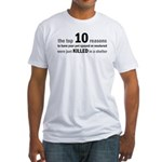 10 Reasons to Spay/Neuter Fitted T-Shirt